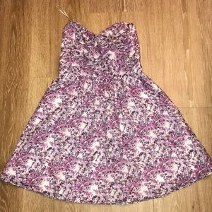 Express floral sweetheart dress